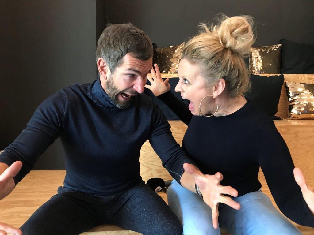 Micky Beisenherz und Barbara Schöneberger